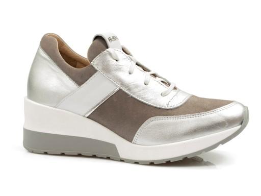 półbuty damskie SKÓRZANE sportowe buty SNEAKERSY