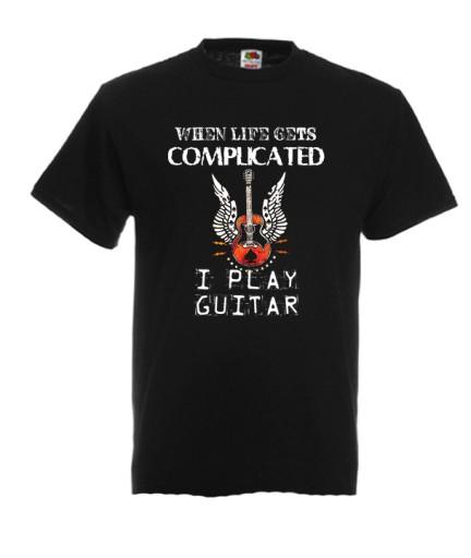 XL KOSZULKA MĘSKA GITARA GITARZYSTA MUZYCZNA 8951008138 Odzież Męska T-shirty FP YMCQFP-2