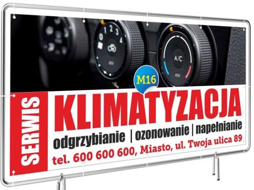 Solidny Baner reklama 2x1m Klimatyzacja Szyld