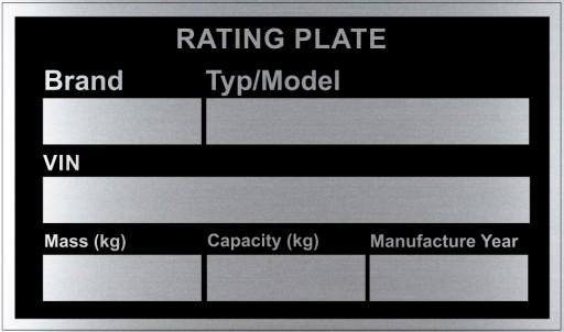 LENTELE VARDO LENTELE 85x50mm UK ALIUMINIS - j.ANGLU