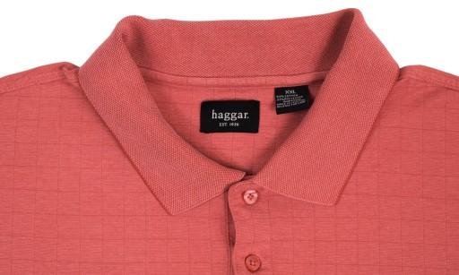 Duża Koszulka Polo Haggar z USA 2XL 144cm P331 10479340511 Odzież Męska Koszulki polo OR STWTOR-1
