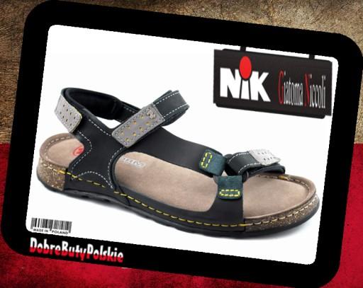 NIK 0163 sandały męskie czarne Giatoma Niccoli 41 8125577063 Obuwie Męskie Męskie IY UVXBIY-8