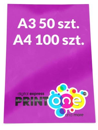 Plakaty A3 50 A4 100 Szt Plakat Pełen Kolor 130g