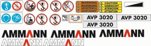 AMMANN AVP3020 NAKLEJKI NAKLEJKA OKLEJENIE