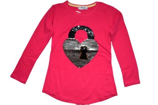 Bluzka Dla Dziewczynki Cekiny Serce 128r 9 10lat 7771569391 Allegro Pl