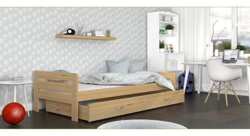 łóżko Bartek 90x200 Materac Szuflady 200x90