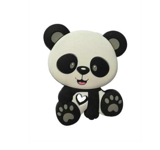 1szt silikonowy gryzak czarno-biały panda
