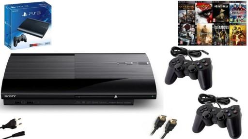 Sony Ps3 Super Slim 500gb 2 Pady Gry 8259087717 Sklep Internetowy Agd Rtv Telefony Laptopy Allegro Pl