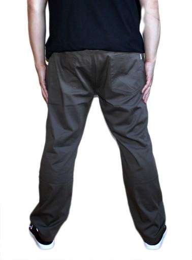 7XL DUŻE PRZEWIEWNE SPODNIE MATERIAŁ OLIWKA 130CM 10724444390 Odzież Męska Spodnie QG XKRLQG-4
