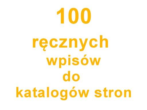 KATALOGOWANIE 100 ręcznych wpisów do katalogów www