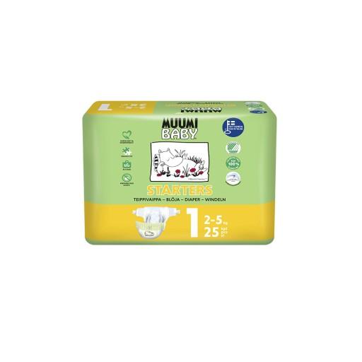 MUUMI Pieluszki ekologiczne NEWBORN (2-5kg) 25szt.