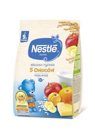 NESTLE Kaszka mleczno-ryżowa 5 owoców 230g