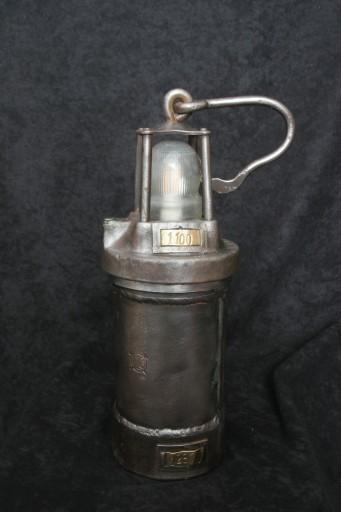 Stara lampa górnicza FLG (przerobiona na LED)