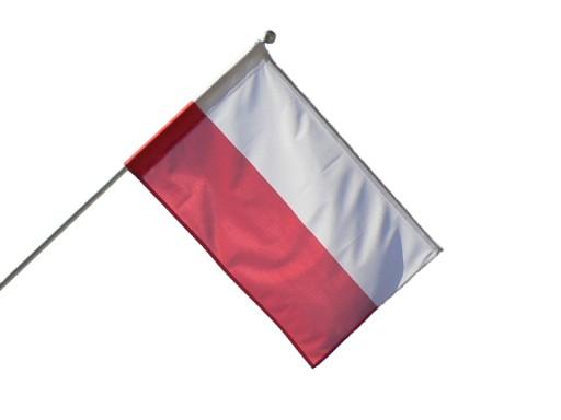 Zestaw DOBRA FLAGA z flagą polską - 50x80 cm