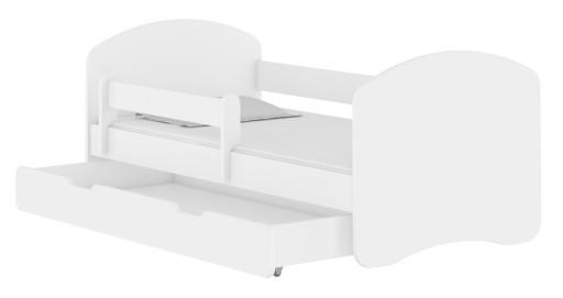 Łóżko dziecięce 180x80 szuflada materac ACMA II
