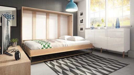 Półkotapczan łóżko Chowane W Szafie 140x200 Cm