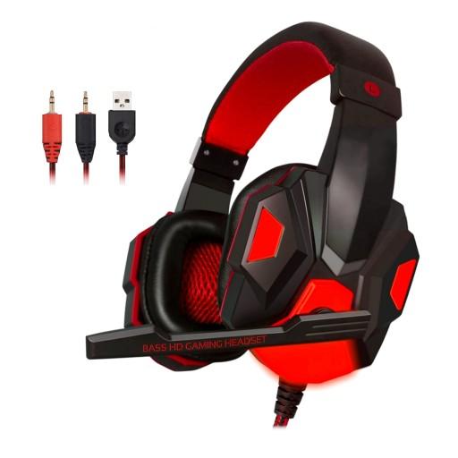 Swiecace Sluchawki Dla Graczy Gamingowe Mikrofon Sklep Komputerowy Allegro Pl