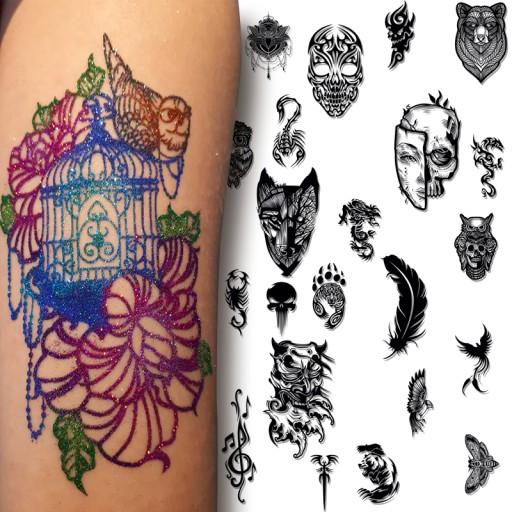 Szablony Tatuaze Henna Brokat Zmywalne Quicktattoo 8305732877 Allegro Pl