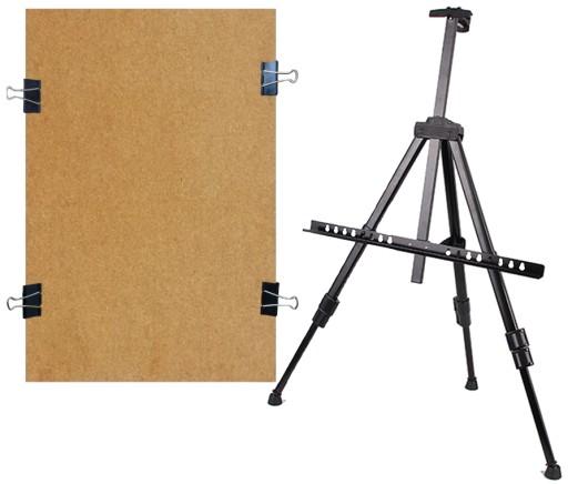SKŁADANA ALUMINIOWA SZTALUGA + RYSOWNICA 40x60 cm