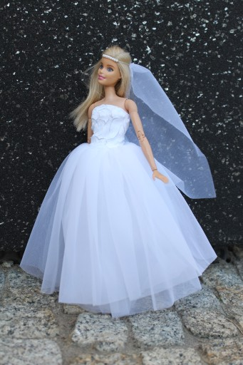 Suknia ślubna Barbie Panna Młoda Od Projektantkipl 7476323737