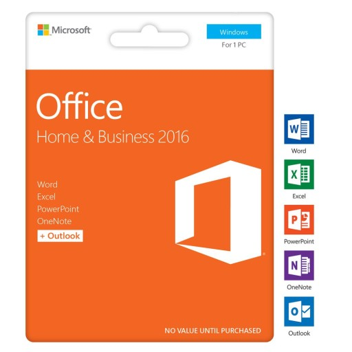 Microsoft Office Home and Business 2016 PL WIN
