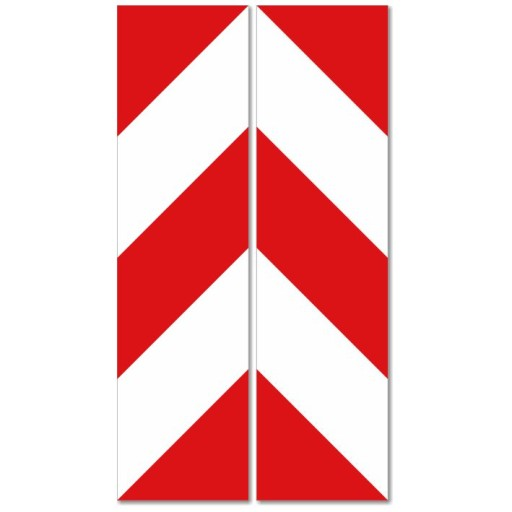 TRANSFERS BELT WARNING WHITE -RED 13x49cm