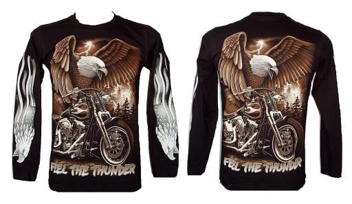 Koszulka z rękawem motor orzeł ROCK EAGLE 4285 S 9372158120 Odzież Męska Koszulki z długim rękawem FM VOGGFM-9