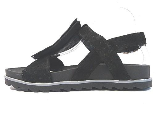 sandały damskie Karino 37 czarne wyprofilowane
