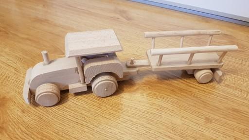 Traktor drewniany prod.polski LIKWIDACJA SKLEPU