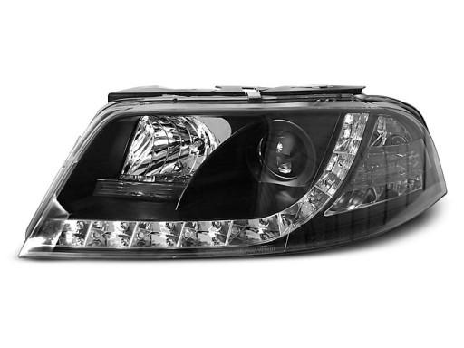 Lampy przód VW PASSAT B5 FL 3BG BLACK LED diodowe