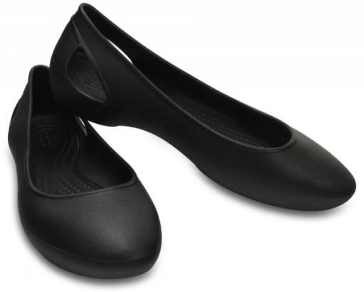 BALERINY CROCS LAURA FLAT BLACK czarne W9 39,5