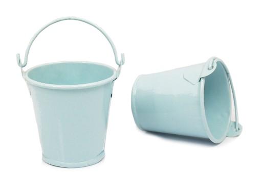 55 Cm Mini Doniczka Wiaderko Błękitne Ocynk