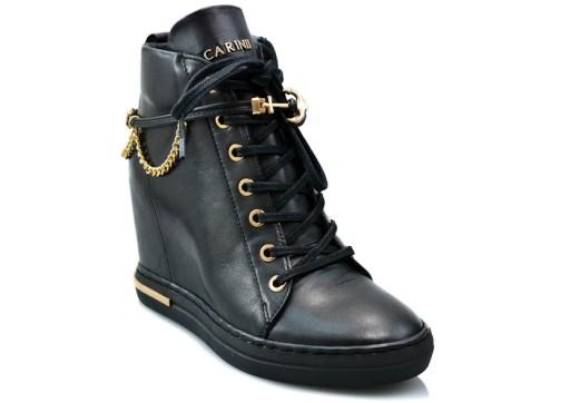 Sneakersy Carinii B5476 Czarny 36 Eleganckie Buty 9054282530 Allegro Pl