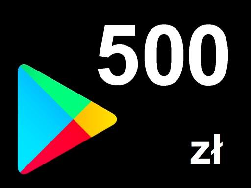 Karta Google Play 500 Zl Kod Prepaid Klucz Android 8679825647 Allegro Pl