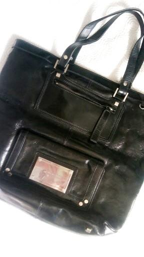 91f789a732da2 KAREN MILLEN czarna duża torebka XXL torba skóra 7846113925 - Allegro.pl
