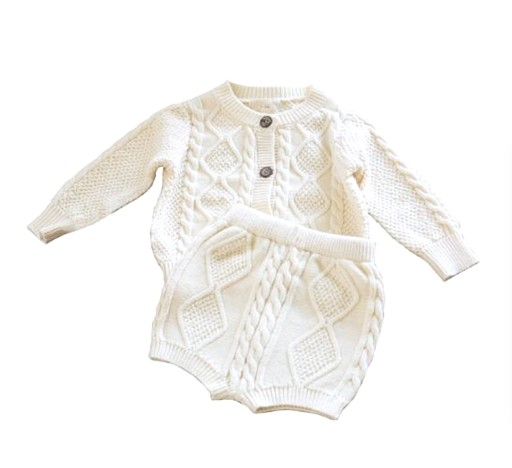 Sweterkowy Komplet Sweterek Spodenki Bawelna 68 8687318415 Allegro Pl