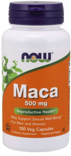 NOW MACA 500mg Aminokwasy zmęczenie pamięć 100kaps