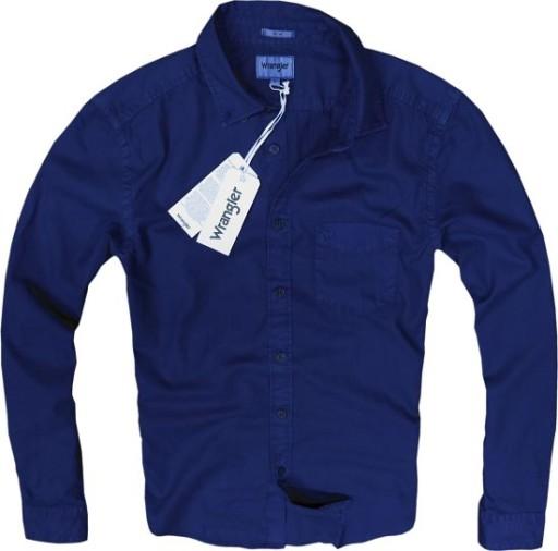 WRANGLER koszula slim BLUE DEPTHS grantowa XL