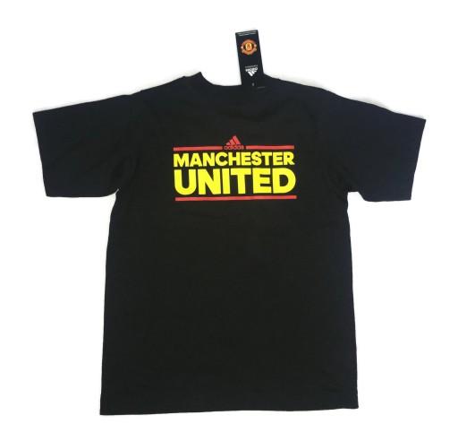 Czarna koszulka Adidas Manchester United 8-10 lat