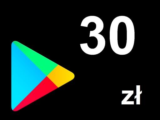 Karta Google Play 30 Zl Kod Prepaid Klucz Android 7923247517 Allegro Pl