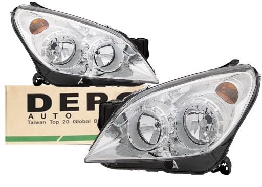 Depo Reflektory Lampy Przód Opel Astra H Chrom