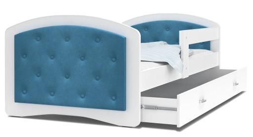 Łóżko tapicerowane materac szuflada 160x80 MEGI
