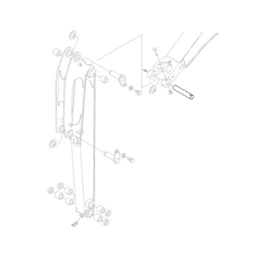 KUBOTA RG138-66630 HINGE STEM EXCAVATORS KX018