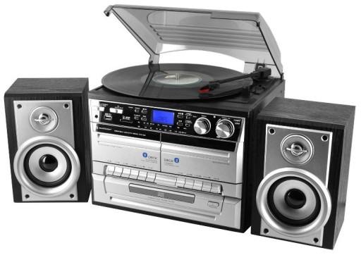 GRAMOFON Z KOLUMNAMI ZGRAJ WINYLE DO MP3 RADIO CD