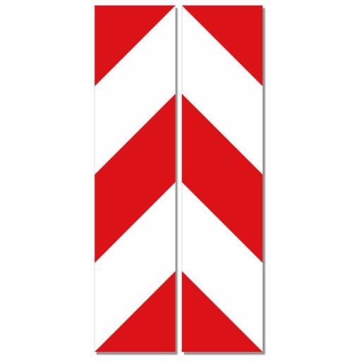 TRANSFERS BELT WARNING WHITE -RED 14x60cm