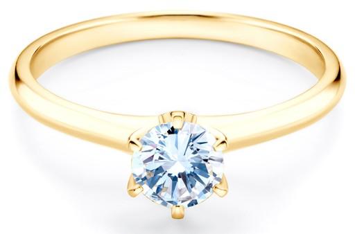 Złoty Pierścionek Zaręczynowy Savicki Szafirem 585 7034305805