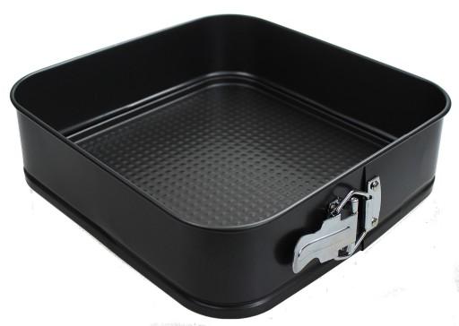 Tortownica BLACHA KWADRAT forma do pieczenia ciast
