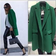 Zielony płaszcz o męskim kroju ZARA XS Nowy
