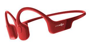 Aftershokz Aeropex słuchawki kostne Solar Red