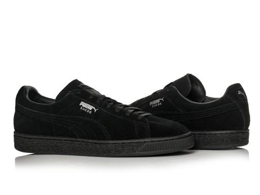 piękny Czarne Zamsz, Puma Zamsz Classic+ Sneakersy Mężczyźni